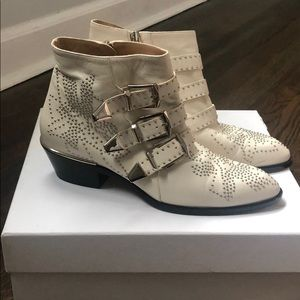 Chloe short boots cloudy white size 37
